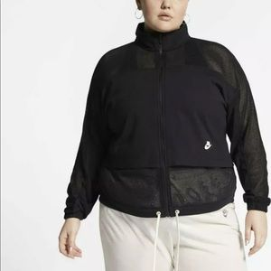 NIKE MESH plus size Zip Up jacket 2X